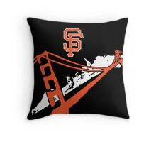 San Francisco Giants Stencil Black Background Throw Pillow