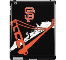 San Francisco Giants Stencil Black Background iPad Case/Skin