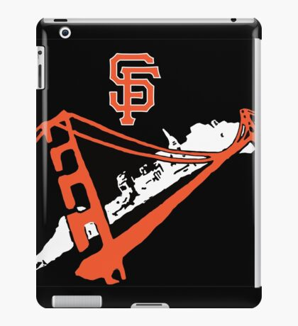 San Francisco Giants Stencil Black Background iPad Case/Skin