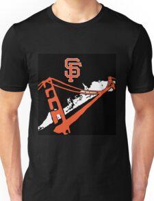 San Francisco Giants Stencil Black Background Unisex T-Shirt
