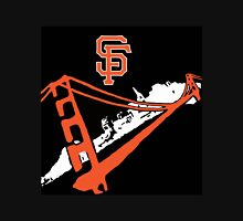 San Francisco Giants Stencil Black Background Unisex T-Shirt