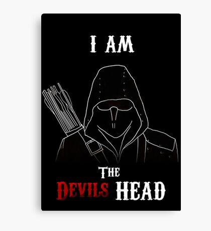 I am the Devils Head Canvas Print