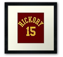 Hoosiers Movie Jimmy Chitwood Jersey Framed Print