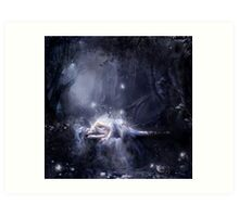 Moonlight fairy Art Print