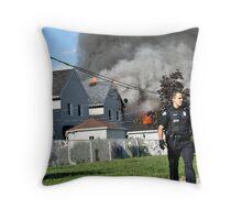 House Fire  Throw Pillow