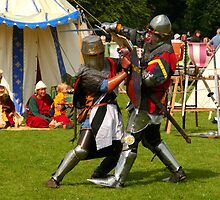 Battling knights at the village fayre by SunGlint