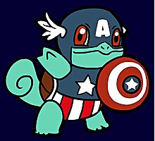 Squirtle America Photographic Print