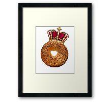 Bagel King Framed Print