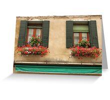 Italian Windows Greeting Card