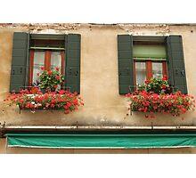 Italian Windows Photographic Print