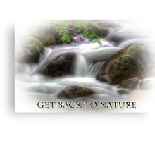Get Back to Nature - Falling Water Landscape Canvas Print