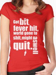 Got bit  Fever hit. Women's Fitted Scoop T-Shirt