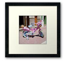 """""""Barbie Bike."""" Framed Print"""