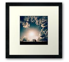A real friend is one who walks in when the rest of the world walks out Framed Print