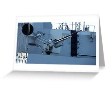 maritime heavy kalashnikov machine gun  Greeting Card