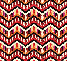 Painted Hippie or Boho Ethnic Pattern by amovitania