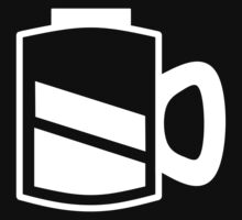 Coffee Recharge - White Print Kids Tee