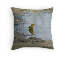 weekly bath Throw Pillow