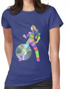 disc-jockey girl Womens Fitted T-Shirt