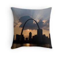 The Gateway Arch-St.Louis Throw Pillow