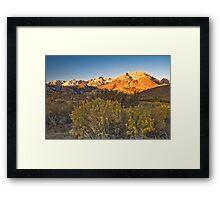 Sierras Sunrise Framed Print