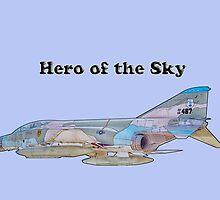 Hero of the Sky - Viet Nam Era Phantom Jet by Barry  Jones
