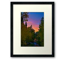 Bishop Sunset Framed Print