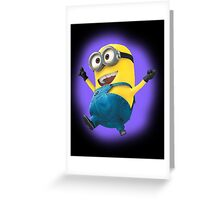 Despicable Minion Dancing Greeting Card