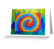 Colorful Spiral - Abstract by Holly Cannell Greeting Card