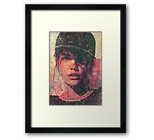 rap girl Framed Print