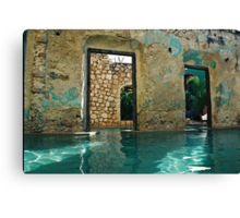 doors in the swimmingpool Canvas Print