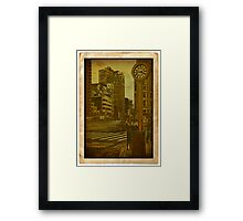 Around the clock... 5th Avenue... Framed Print