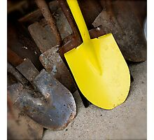 Yellow Shovel Photographic Print