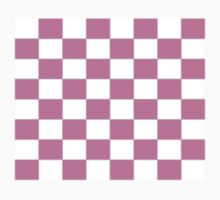 Pink Check Bedspread - Girls Room Duvet Phone Cover Kids Clothes