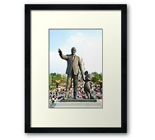 Walt and Mickey Statue Framed Print