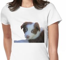 Blue Eyed Blitz -  Border Collie - NZ Womens Fitted T-Shirt