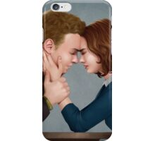 A Forehead Touch Between Two Scientists iPhone Case/Skin