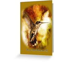 Spread Your Wings and Fly - Inspirational Design Greeting Card