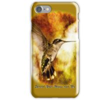 Spread Your Wings and Fly - Inspirational Design iPhone Case/Skin