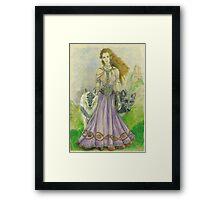 Elven Wolf Queen Framed Print