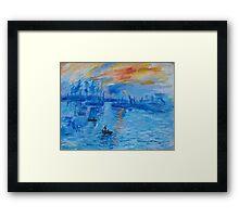 Impression, Sunrise Monet painting Soleil Levan Framed Print