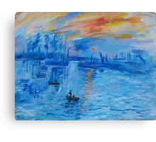 Impression, Sunrise Monet painting Soleil Levan Canvas Print