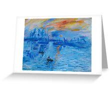 Impression, Sunrise Monet painting Soleil Levan Greeting Card