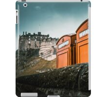 Red Phoneboxes By Edinburgh Castle iPad Case/Skin