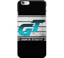 Edmonton Auto - Cyan & White iPhone Case/Skin