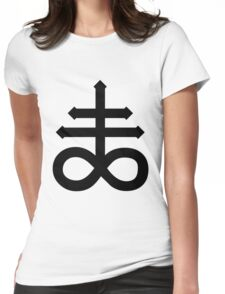 Sulfuric Cross Womens Fitted T-Shirt