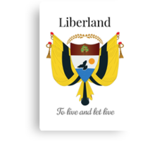 Liberland - To live and let live Canvas Print
