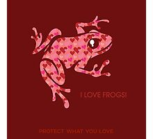 Love Frogs Photographic Print