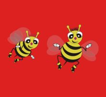 Two cute  little bees  One Piece - Long Sleeve