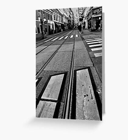 crossings. vienna, austria Greeting Card